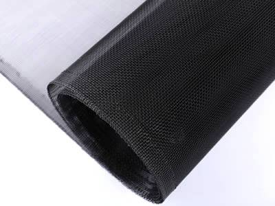 This is a roll of aluminum insect screen in black.