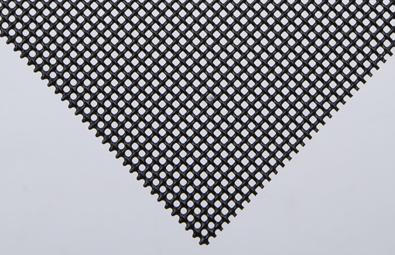 The details of black powder coated aluminum alloy security screen.