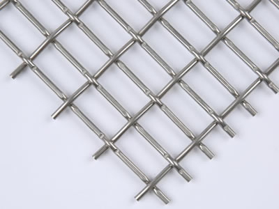 There is a rectangular hole stainless steel crimped wire mesh sheet.