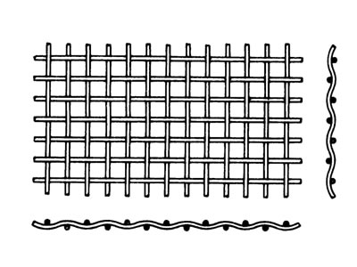 Industrial wire screen of double crimp type.