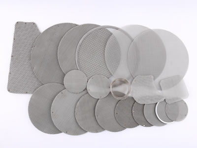There are several multi layers filter discs with different shapes and from left to right the  size increased in turn.