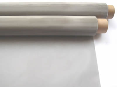 There are two silver white molybdenum wire cloth rolls.