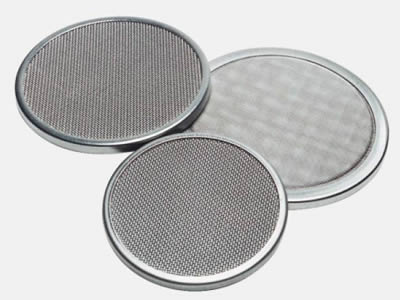 There are three UNS31803 wire mesh filter discs with different density.
