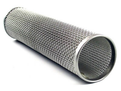 A woven filter tube made of UNS31803 super stainless steel wire mesh lay here.