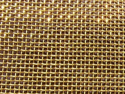 Brass Wire Mesh Used For Filter Decoration Space Partition